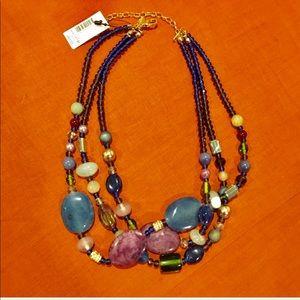 🌹NWT Chico's multicolor stone & crystal necklace.